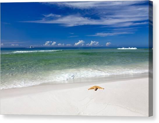Beach Resort Vacation Canvas Print - Beach Splendour by Janet Fikar