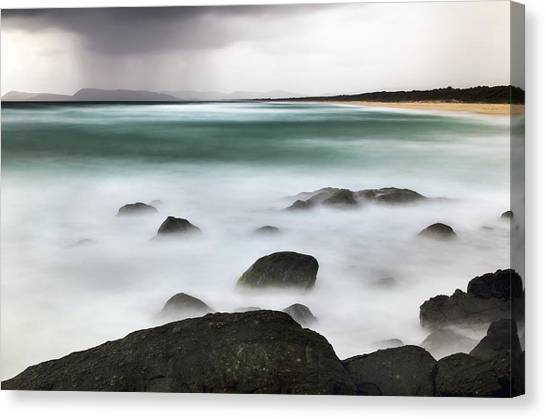 Beach Squall Canvas Print
