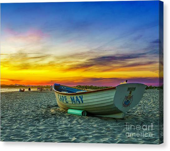 Beach Sunset In Cape May Canvas Print