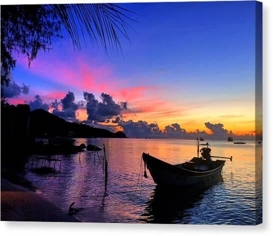 Sunset Horizon Canvas Print - Beach Sunset by Julita Pietrzyk