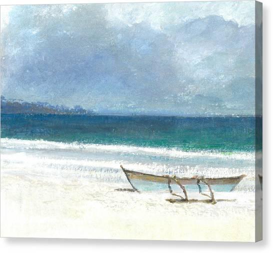 At The Beach Canvas Print - Beach Thalassa by Lincoln Seligman