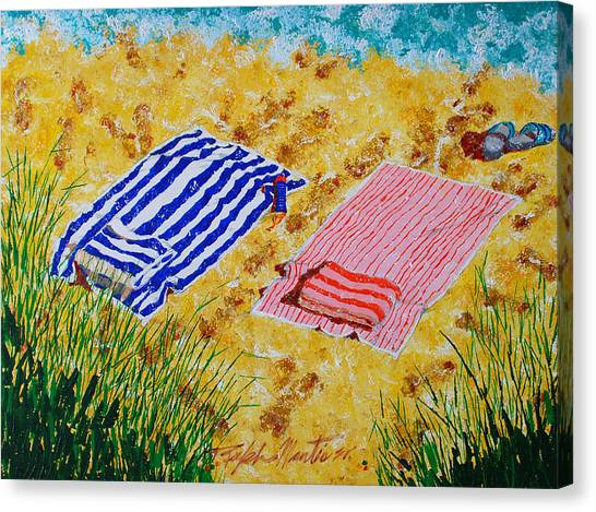 Beach Towels  Canvas Print
