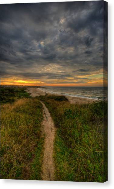 Montauk Canvas Print - Beach Trail by Mike Horvath