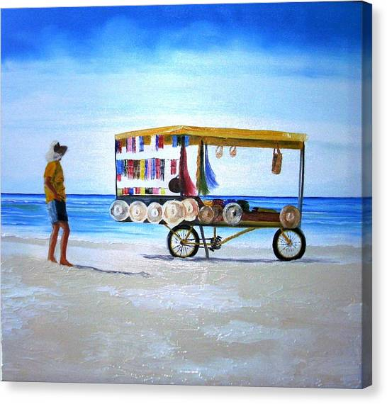 Beach Vendor Canvas Print
