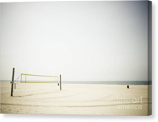 Volleyball Canvas Print - Beach Volleyball by Sam Bloomberg-rissman