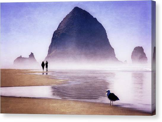 Canvas Print featuring the photograph Beach Walk by Scott Kemper