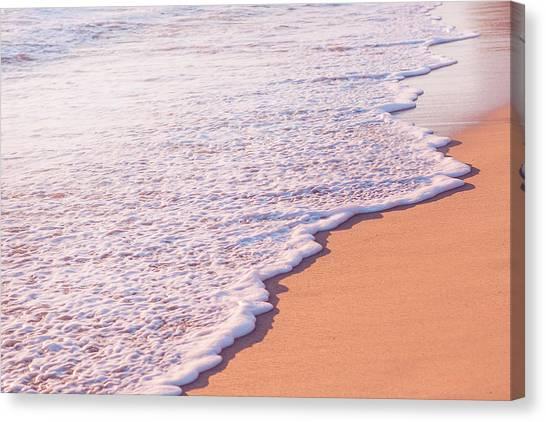 Waves Canvas Print - Beach Waves At Sunset  by Ariane Moshayedi