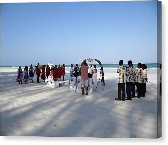 Exploramum Canvas Print - Beach Wedding In Kenya by Exploramum Exploramum