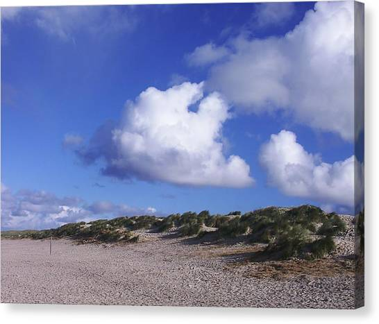 Beach With Clouds Canvas Print by Sascha Meyer