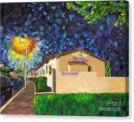 Beachcomber Motel Canvas Print