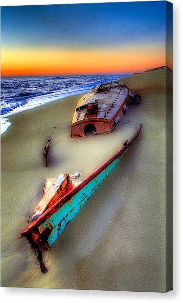 North Carolina Canvas Print - Beached Beauty by Dan Carmichael