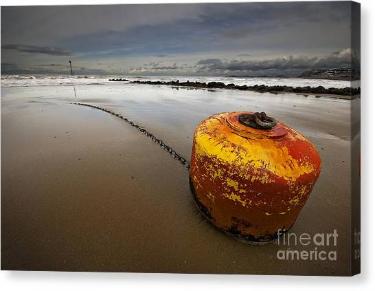 Beached Mooring Buoy Canvas Print