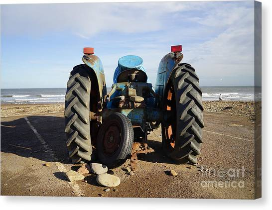Tractors Canvas Print - Beached by Smart Aviation