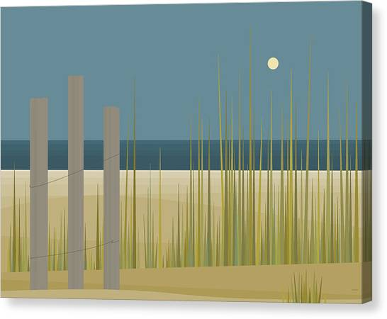Beaches - Fence Canvas Print