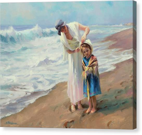 Surf Canvas Print - Beachside Diversions by Steve Henderson