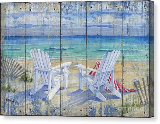 Adirondack Chair Canvas Print - Beachview Distressed by Paul Brent