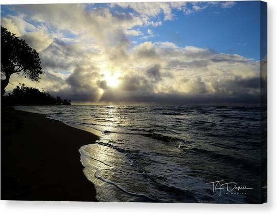 Beachy Morning Canvas Print