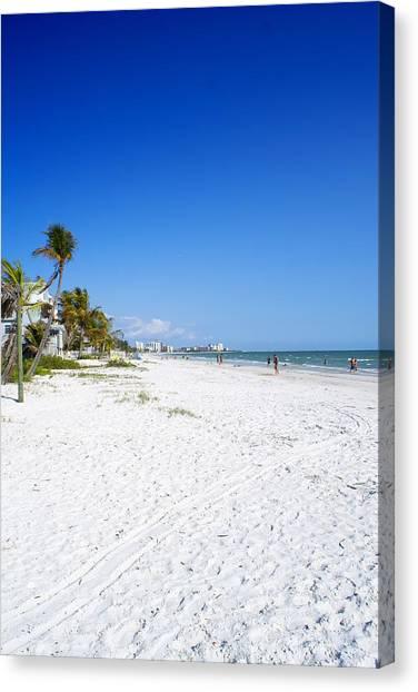 Beachy White Sands Canvas Print