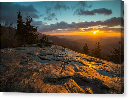 Beacon Heights Blue Ridge Park Way Canvas Print