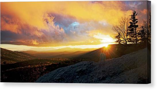 Moses Cone Canvas Print - Beacon Heights Sunset by Matt Plyler