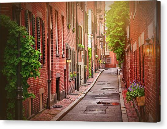 Beacon Hill Boston Canvas Print