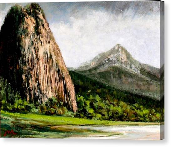 Beacon Rock Washington Canvas Print by Jim Gola