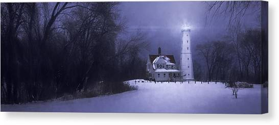 Lake Michigan Canvas Print - Beacon by Scott Norris