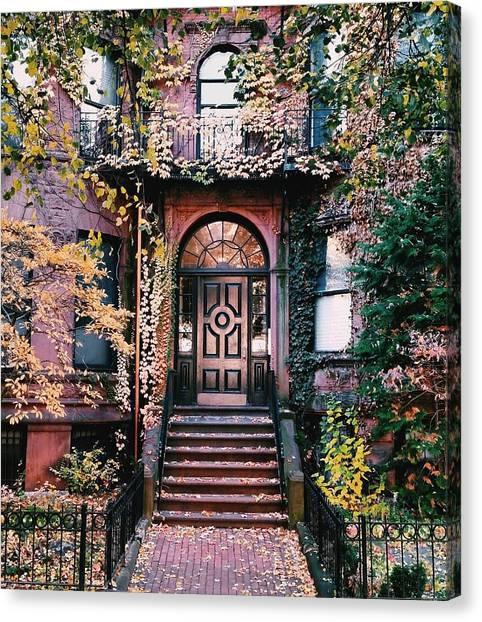 Canvas Print - Beacon Street Golden Doortrait by Brian McWilliams