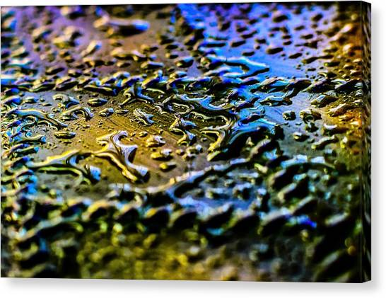 Beaded Water Texture Canvas Print