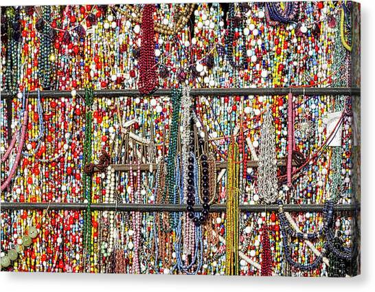 Beads In A Window Canvas Print