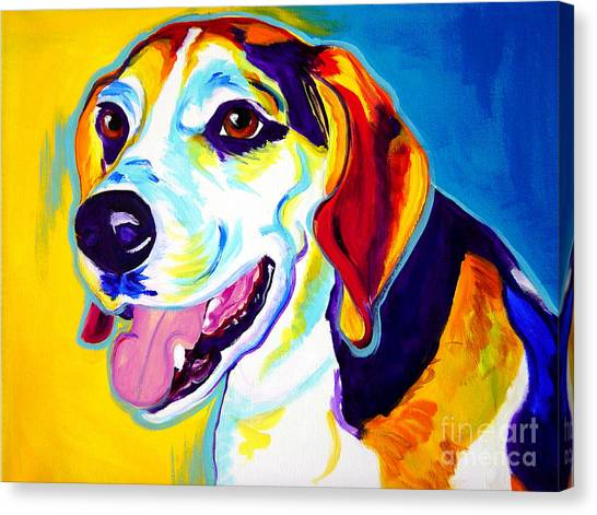 Beagles Canvas Print - Beagle - Lou by Alicia VanNoy Call