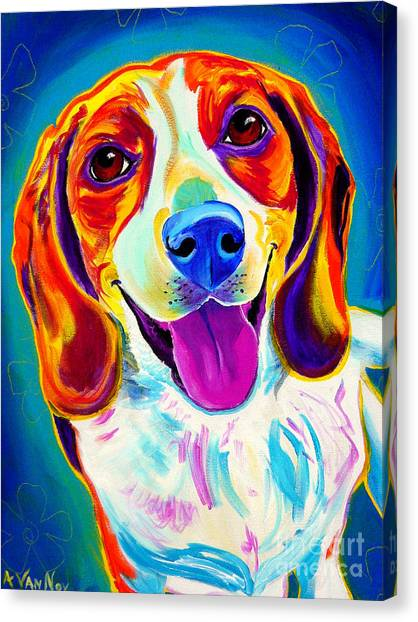 Beagles Canvas Print - Beagle - Lucy by Alicia VanNoy Call