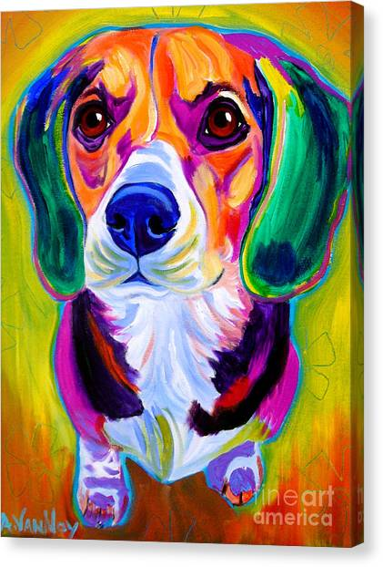 Beagles Canvas Print - Beagle - Molly by Alicia VanNoy Call