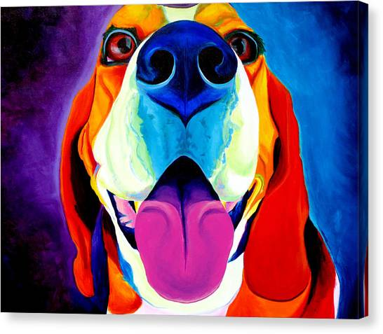 Breed Canvas Print - Beagle - Lollipop by Alicia VanNoy Call