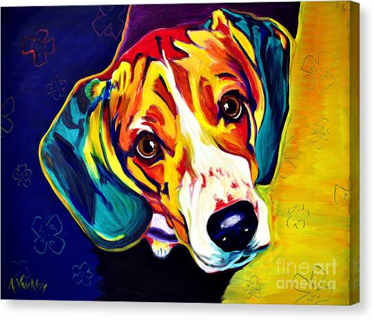 Breed Canvas Print - Beagle - Bailey by Alicia VanNoy Call