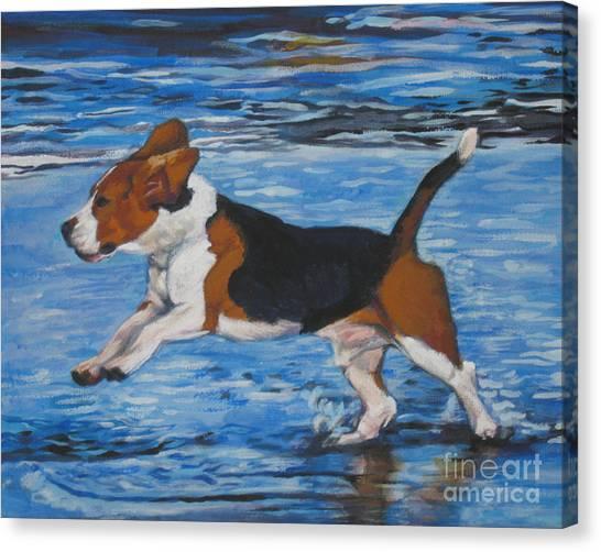 Beagles Canvas Print - Beagle by Lee Ann Shepard