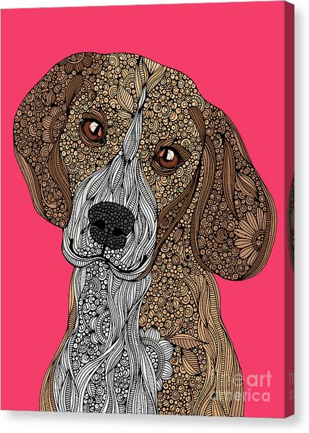 Beagles Canvas Print - Beagle by Valentina