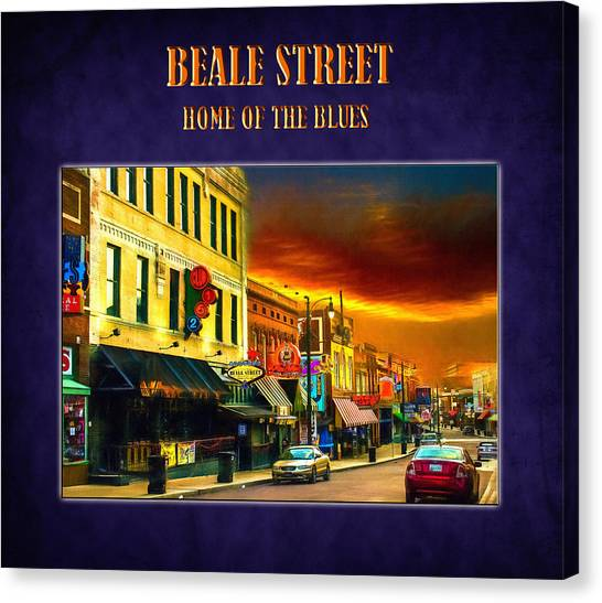 Beale Street - Home Of The Blues Canvas Print