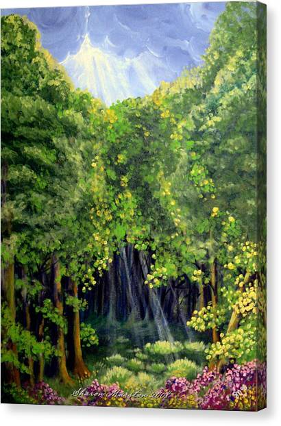 Beaming In Canvas Print by Sharon Marcella Marston