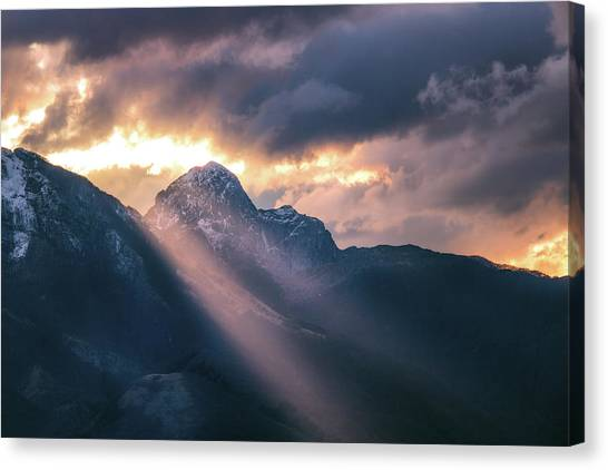 Beams Of Fire Canvas Print