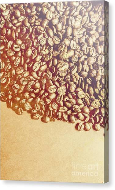 Coffee Shops Canvas Print - Bean Background With Coffee Space by Jorgo Photography - Wall Art Gallery