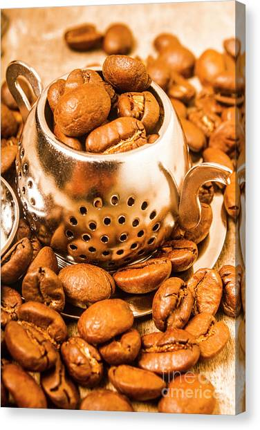 Bistros Canvas Print - Beans The Little Teapot by Jorgo Photography - Wall Art Gallery