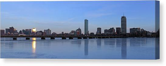 Beantown On Ice Canvas Print by Juergen Roth