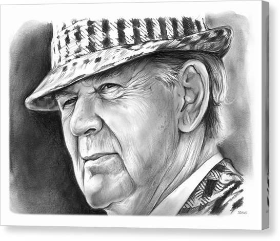 Alabama Canvas Print - Bear Bryant 2 by Greg Joens