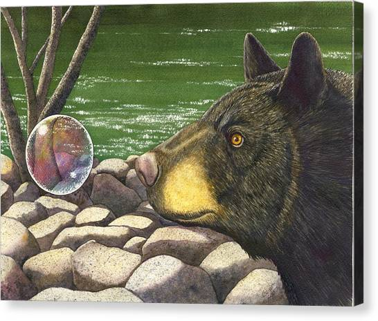 Bear Bubble Canvas Print by Catherine G McElroy