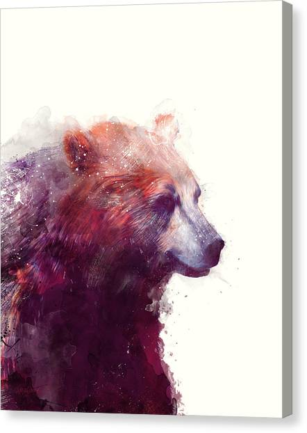 Bears Canvas Print - Bear // Calm by Amy Hamilton