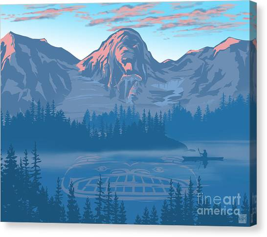 British Columbia Canvas Print - Bear Country Scenic Landscape by Sassan Filsoof