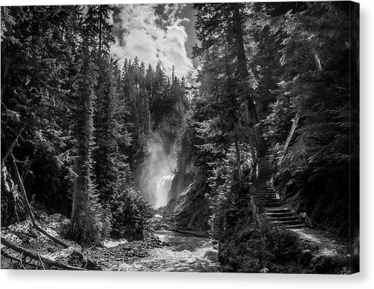 Bear Creek Falls As Well Canvas Print