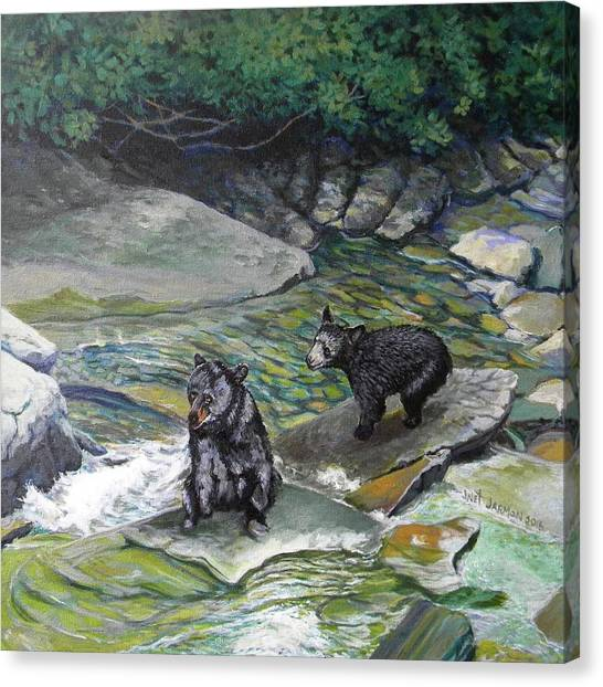 Canvas Print featuring the painting Bear Creek by Jeanette Jarmon