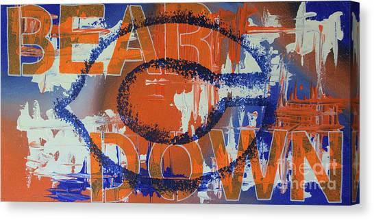 Brian Urlacher Canvas Print - Bear Down by Melissa Goodrich